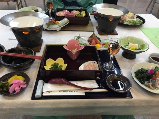 湯葉のディナー