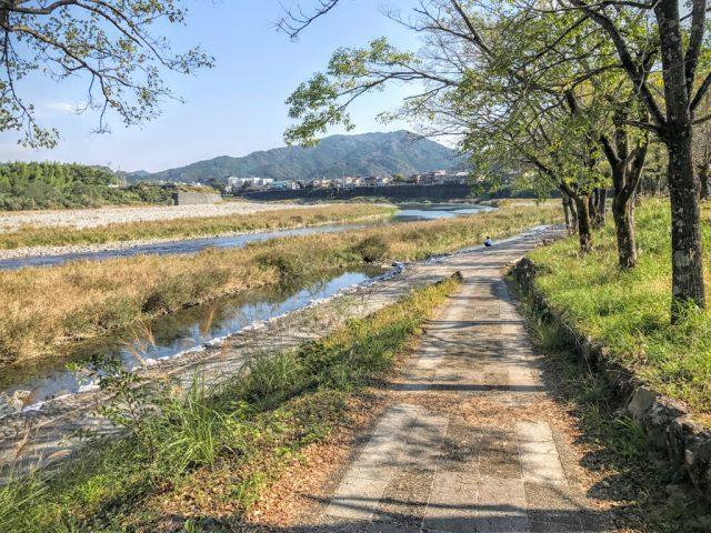 仁淀川の河川敷