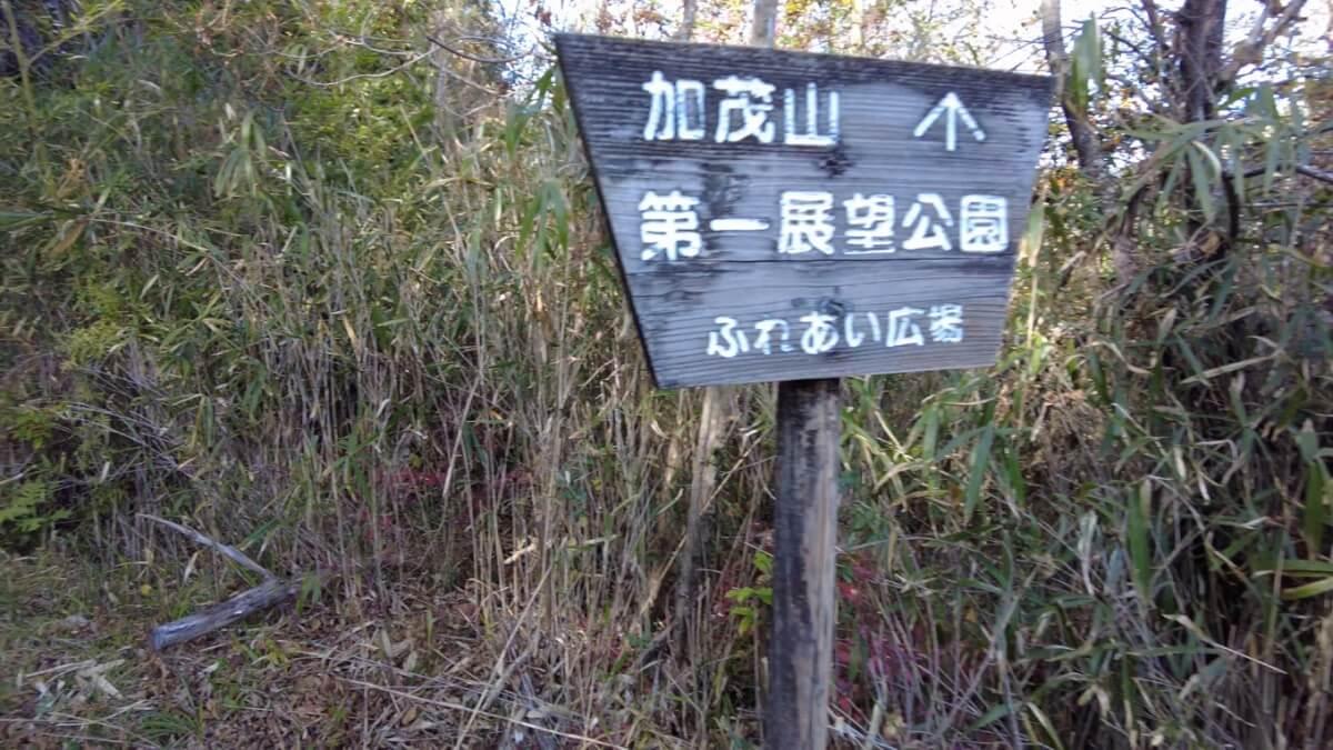 加茂山第一展望公園は この先にある