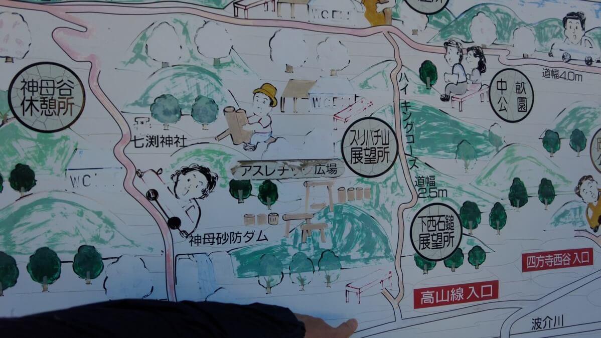 宇佐八幡宮に戻ってきて 今回のルートを地図で確認する