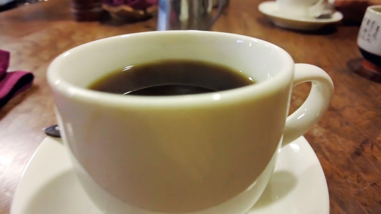 食後にコーヒーも頼んだ