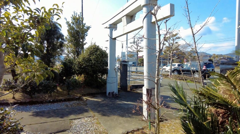 食後 隣の厳島神社に参拝した