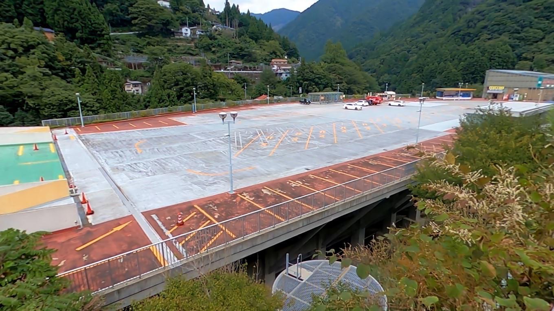かずら橋夢舞台の駐車場に到着