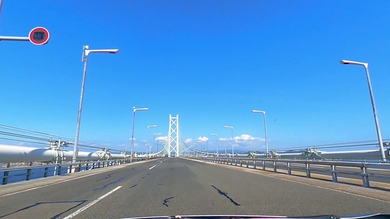 明石大橋を通過