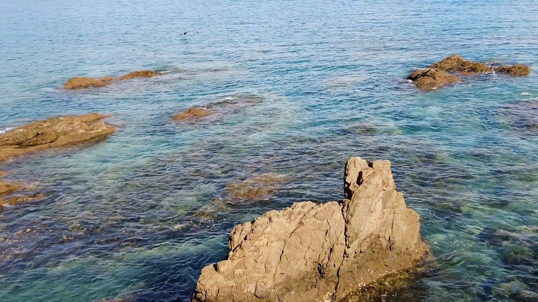 安和海岸は とても海がきれいだ