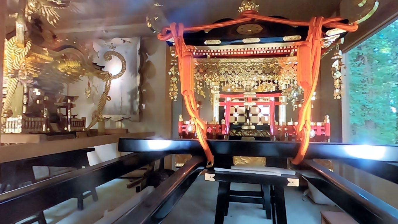 神輿庫 しんよこ の神輿は 1804年に作られたそうだ