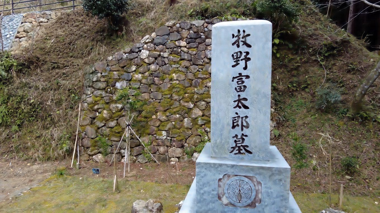 牧野富太郎の墓に参拝する
