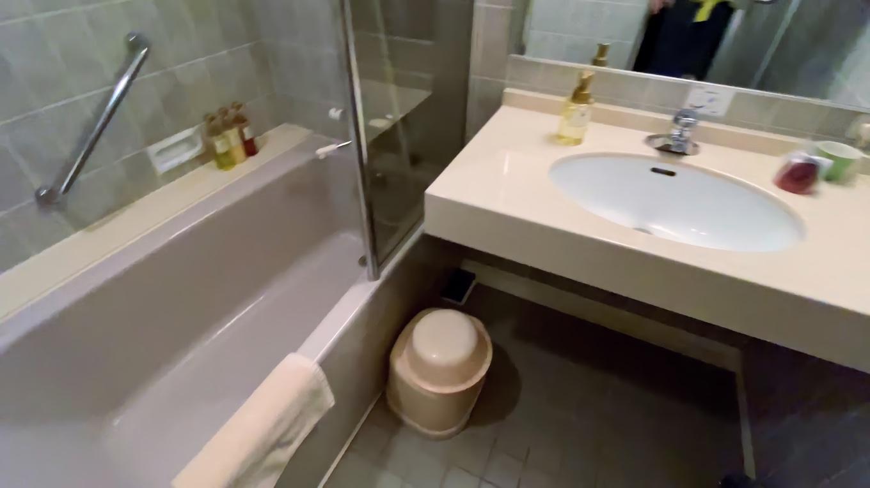 いちおう部屋にも風呂があるが 温泉の大浴場に行くのでたぶん使わないだろう