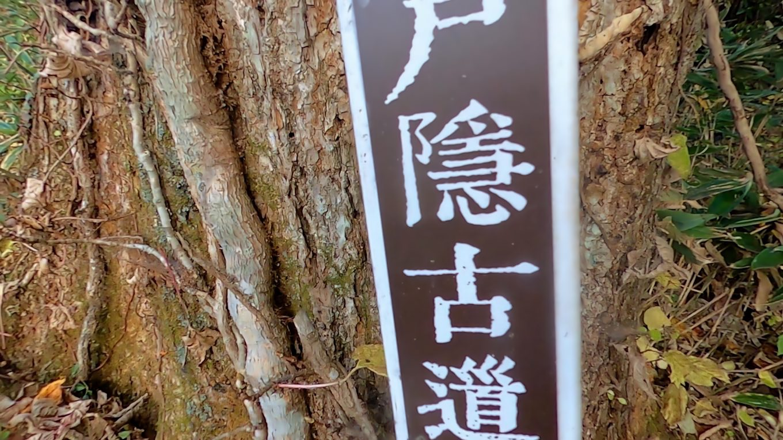 参拝を終え 戸隠古道で中社に戻る