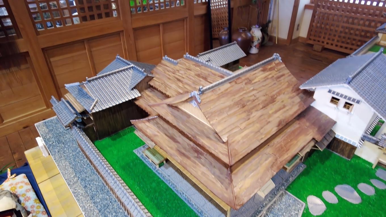 ここには佐川町などにある古い建物のジオラマが展示されている