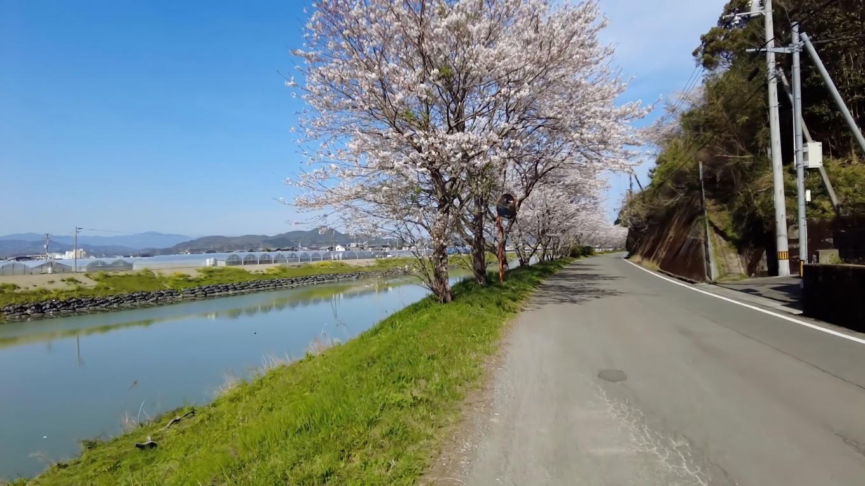 そこから車で 波介川の下流にやってきた