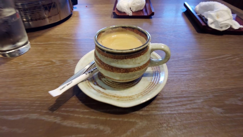 食後は コーヒーをチョイスした