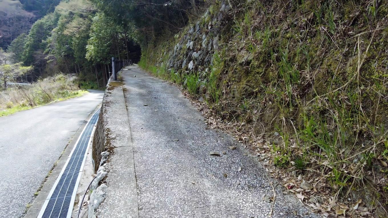 途中で車道と別れ 登山道に入る