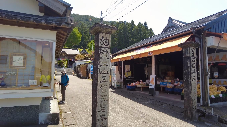 そこから車で 岩本寺にやってきた