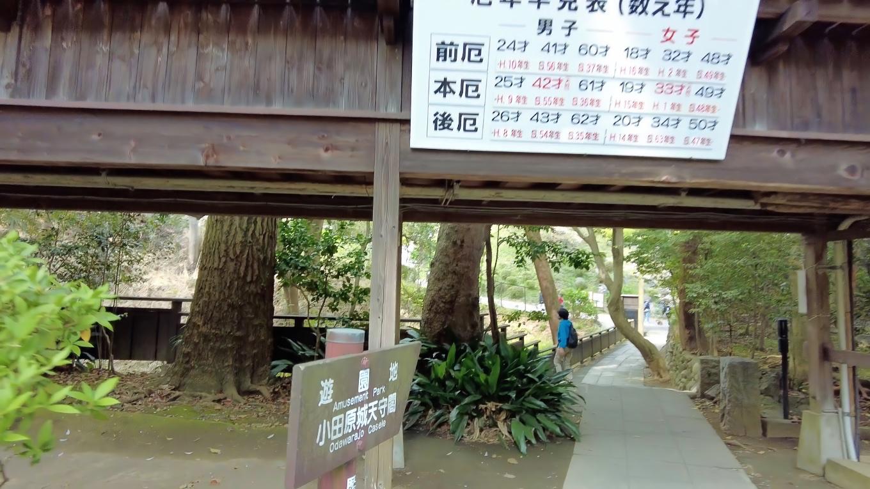 ここから小田原城の天守に歩いて行く
