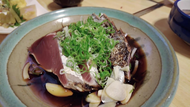 ツレはカツオのタタキ定食