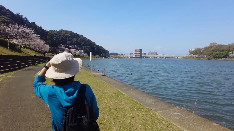 瀬田川ぐるり散歩道 という遊歩道が整備されている