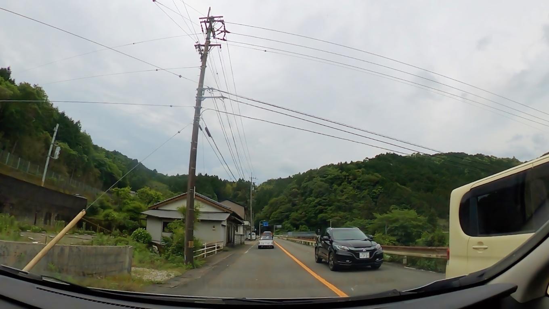 県道から国道381号線へ