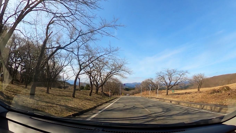 田沢湖に向かって走る