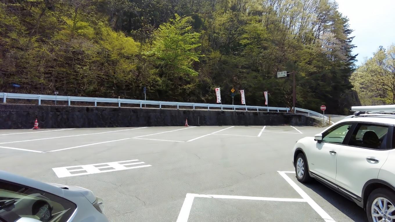 昇仙峡の無料駐車場に到着