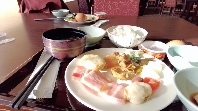 こんな感じで朝食