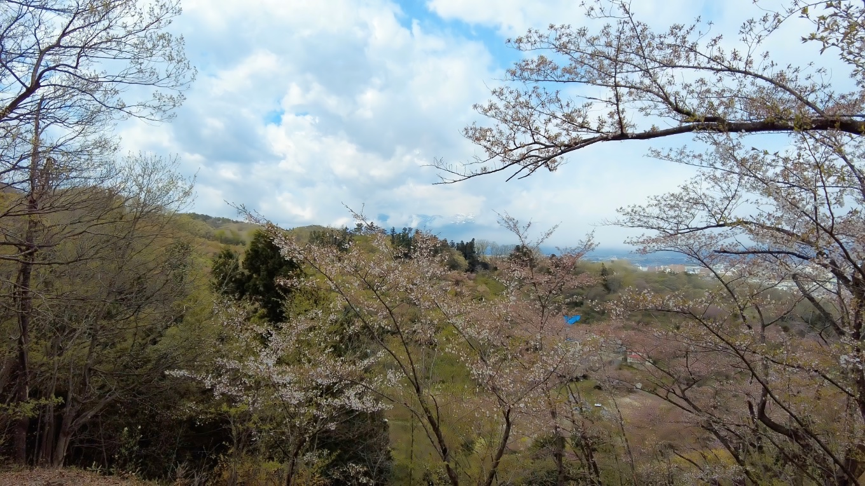 今朝いた玉子湯がある小富士山や一切経山などが見えている
