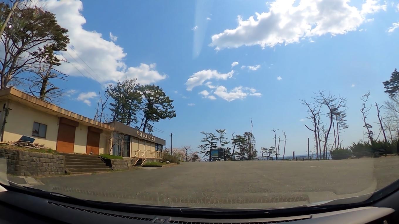 再び車で先に進み 巨釜半造の駐車場にやってきた