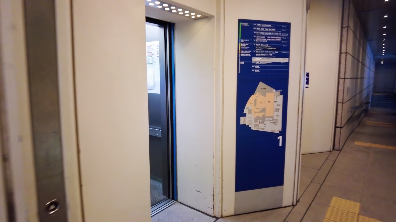 エレベーターで7階へ