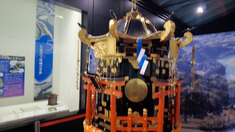 いつも参拝している椙本神社の神輿が展示されていたが 現存唯一の八角形神輿だと初めて知った 苦笑