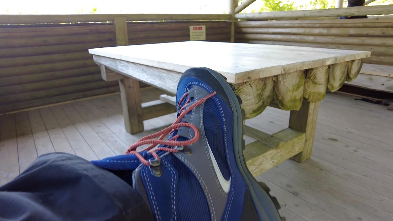 この日 新しい登山靴を投入した