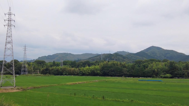 加茂川親水公園が見える