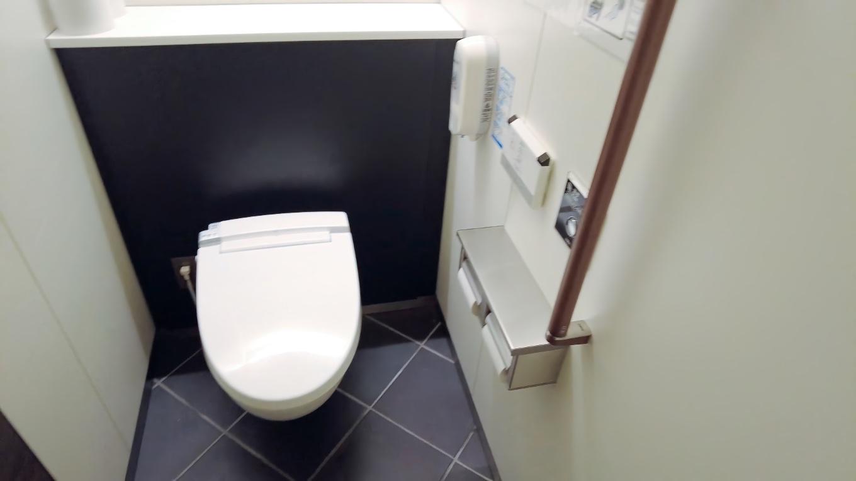 トイレはとてもきれいだった