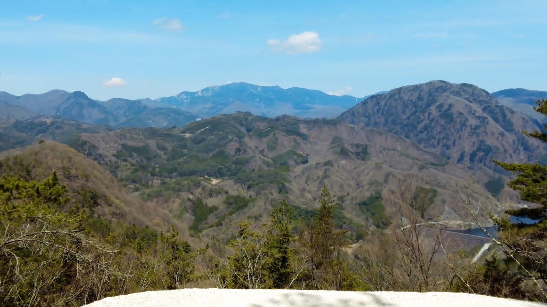その金峰山は きれいに見えている