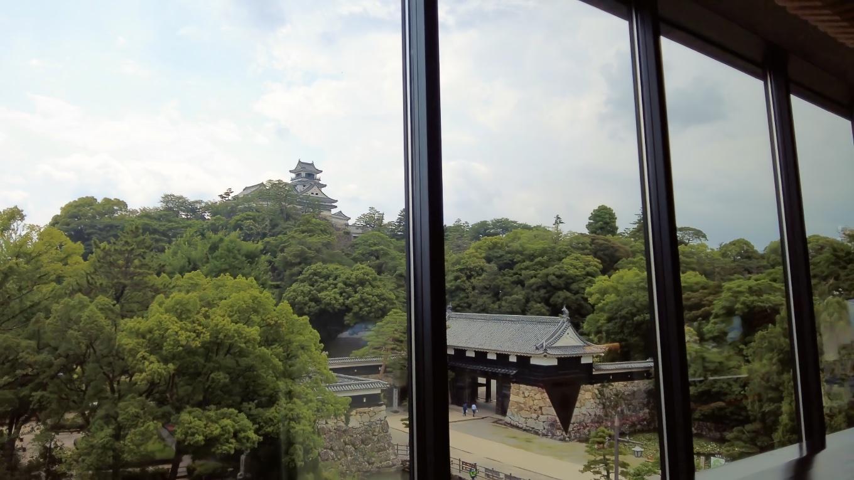 ここから高知城がきれいに見える