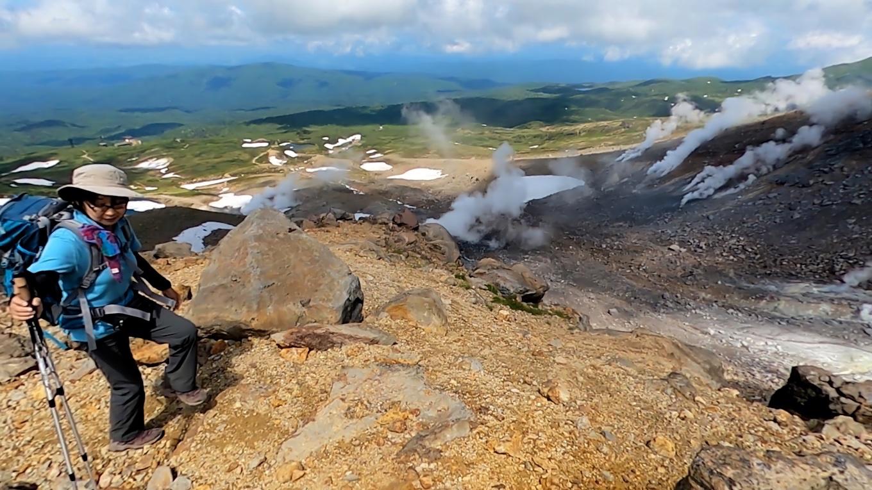 地獄谷の噴気が凄い