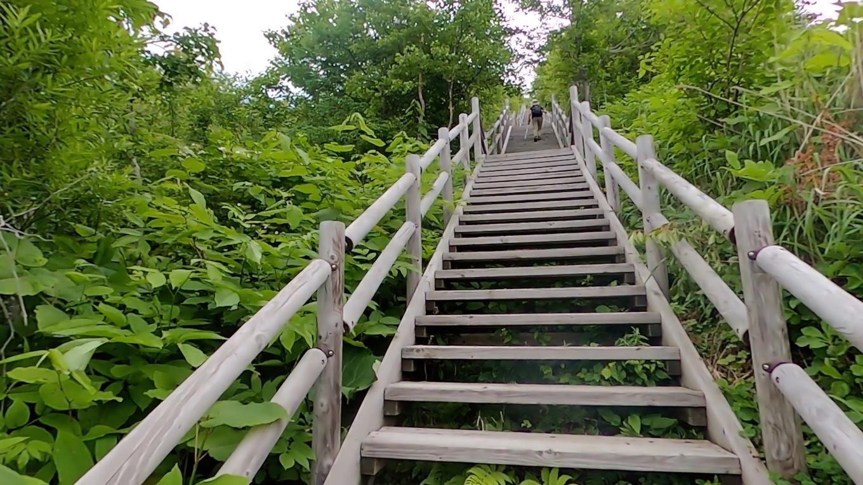 案の定 上り階段で息も絶え絶え 苦笑