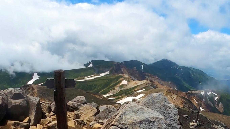 富良野岳が美しい