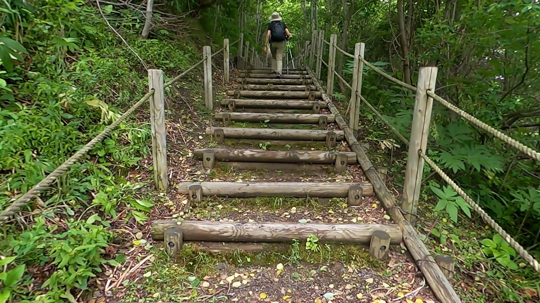今度は階段を上っていく