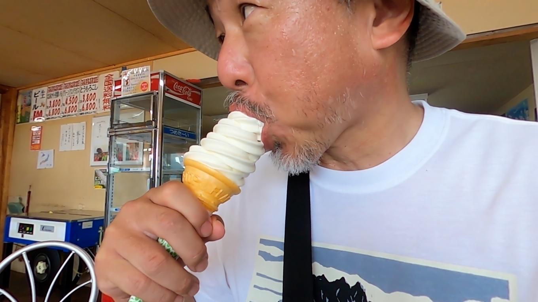 ここでソフトクリームを買って涼を取る