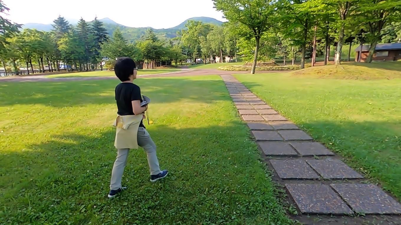 有珠山噴火記念公園まで歩いて 戻ることにした
