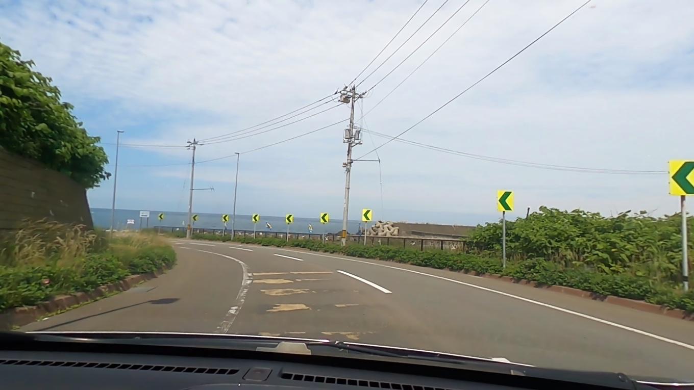 留萌港を通過