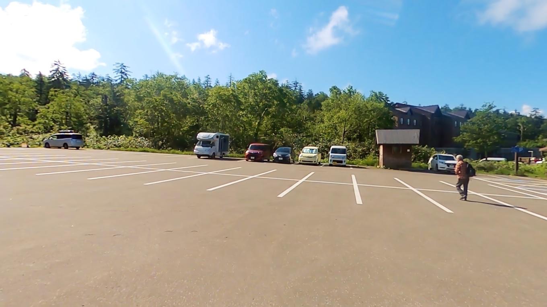 大雪山ビジターセンターの駐車場にやってきた