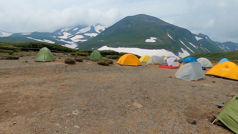 テント場は使用できるようだ