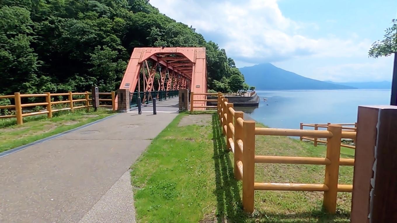 明治32年に架けられた 北海道で現存する現役最古の鉄橋だ