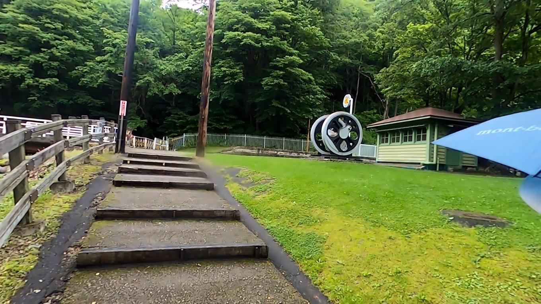 以前は函館本線の駅だった神居古潭駅が保存されている
