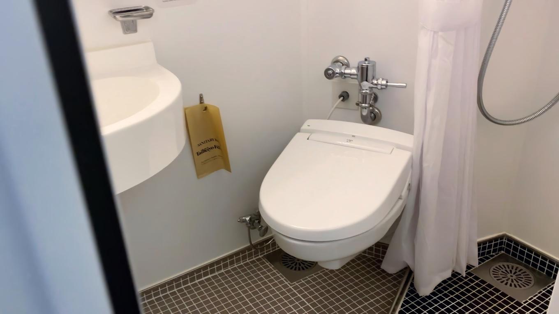 トイレにシャワーまで付いている