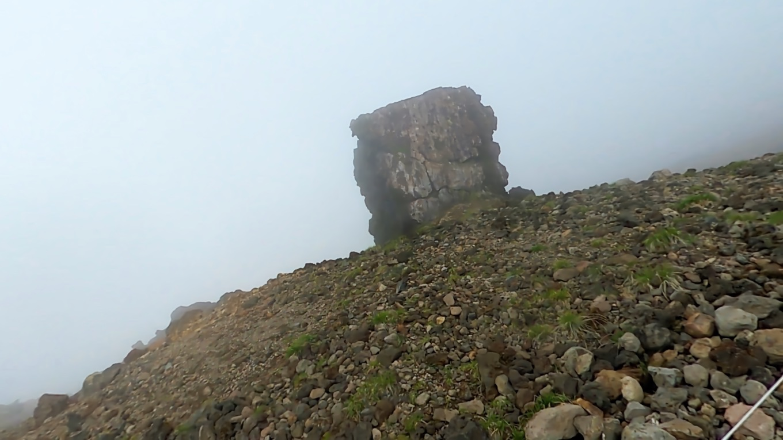 金庫岩が見えてきた