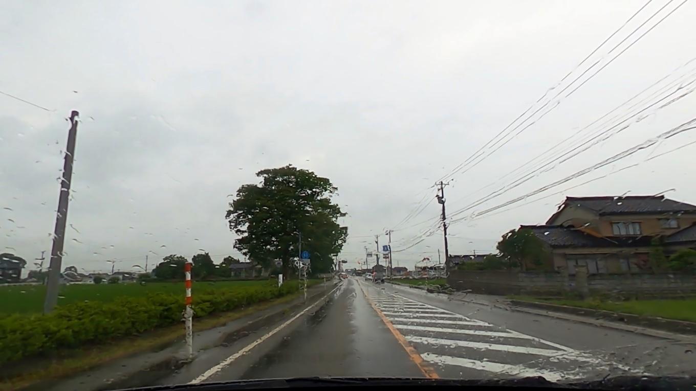 日本海に向かって北上