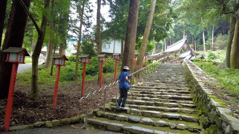 まず石段を上がっていく