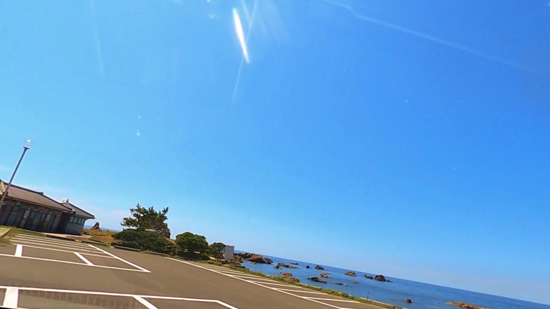 藻浦崎公園の駐車場に到着